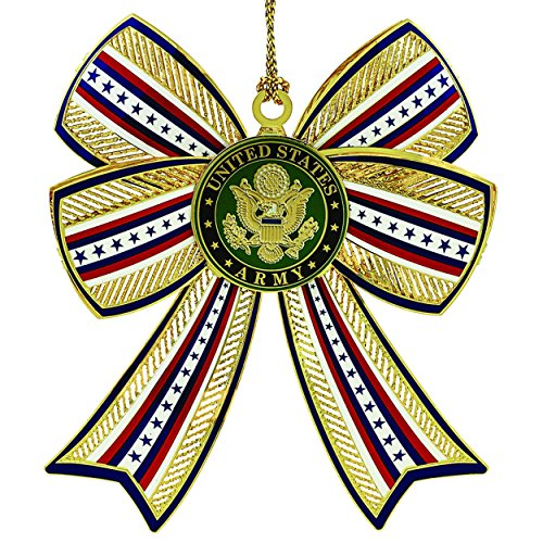 ChemArt Army 3D Bow Ornament