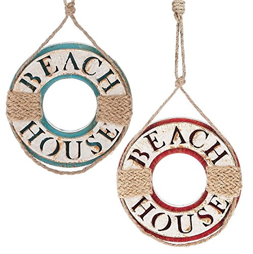 Midwest-CBK Beach House Life Preserver Ornaments Set of 2