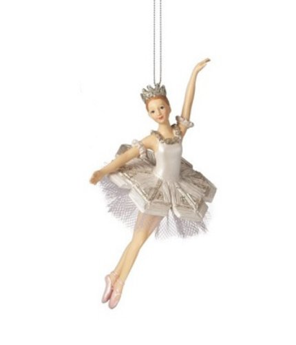 Snow Princess Ballerinas One Arm Up Resin Ornaments
