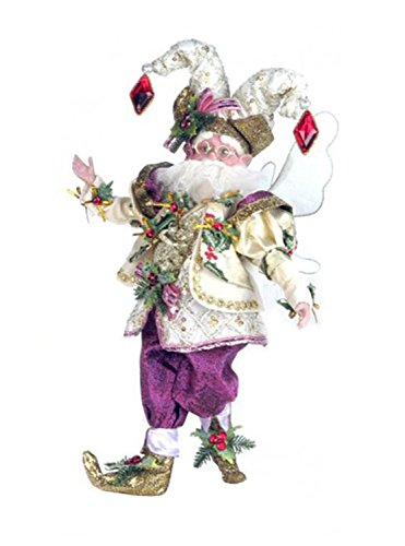 Mark Roberts Collectible Hollybell Harlequin Christmas Fairy – Medium 15″ #51-42434