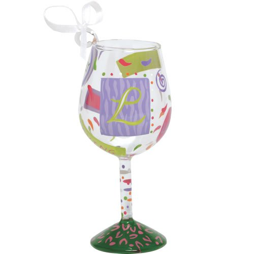Santa Barbara Design Studio Lolita Holiday Mini-Wine Ornament, Letter L