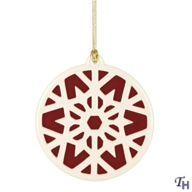 Lenox Colors of Christmas Snowflake Ornament, Red