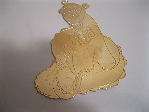 DINOSAUR Christmas Ornament ENGRAVABLE Brass 3″ Collectible ; Jewelry for your Tree