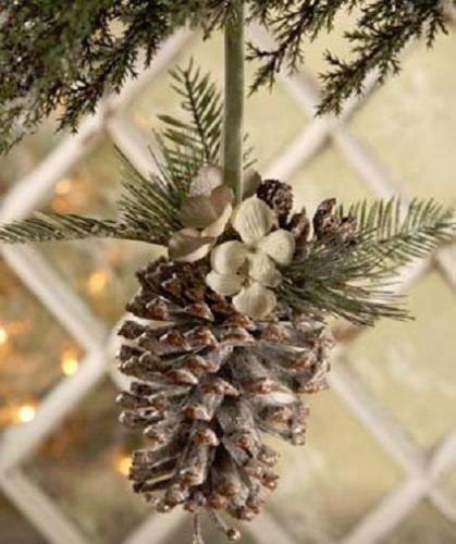 Bethany Lowe Christmas – Pine Cone Hydrangea Ornament – DA0448