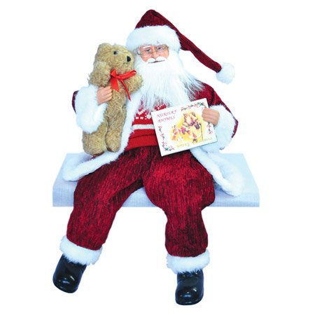 Santas Workshop 6972 18 in. Sitting Sweater Claus