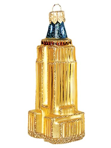 Mini Empire State Building Glass Christmas Ornament New York City Decoration