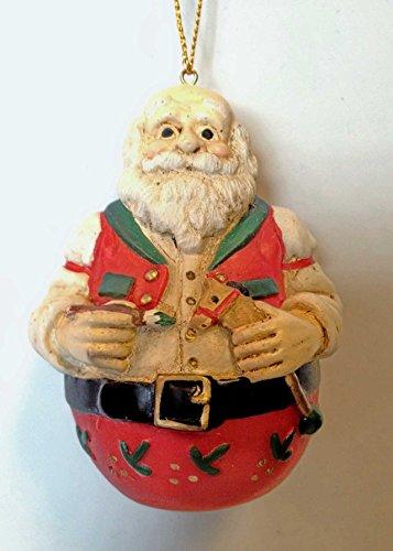 Vintage Santa Royl Poly Ornament