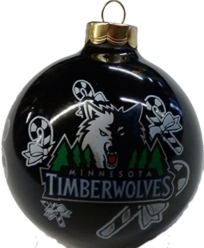 Black Minnesota Timberwolves Sports Traditional 2 5/8″ Christmas Ornament