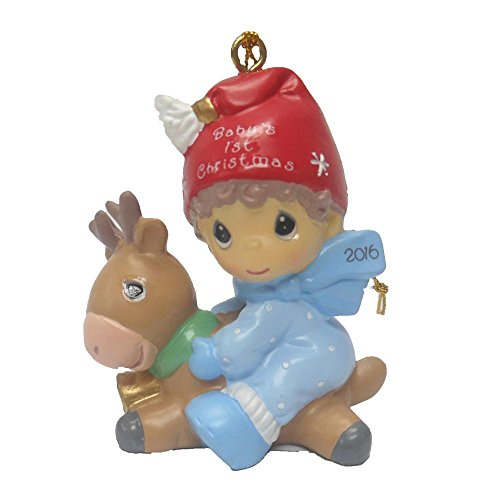Precious Moments Baby's First Christmas 2016 Boy Ornament