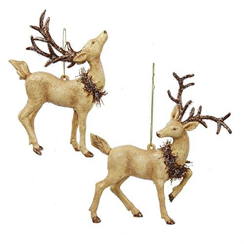 Kurt Adler 5″ Plastic Deer Ornament 2/asstd