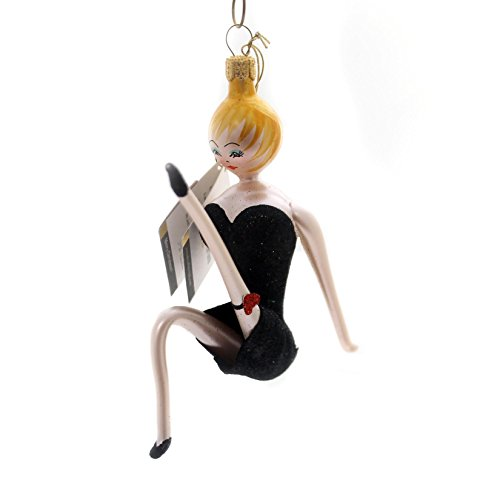 De Carlini COME TO THE CABARET Glass Ornament Sexy Lady Dance Do7467