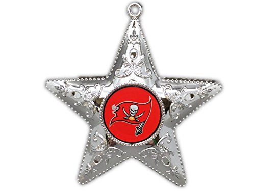 Tampa Bay Buccaneers 4.5″ Silver Star Ornament