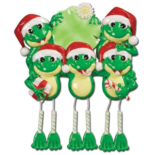 Personalized Christmas Frog Dangle Legs (5) Ornament