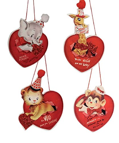 Bethany Lowe Wild About You Valentine's Day Ornaments – Set of 4