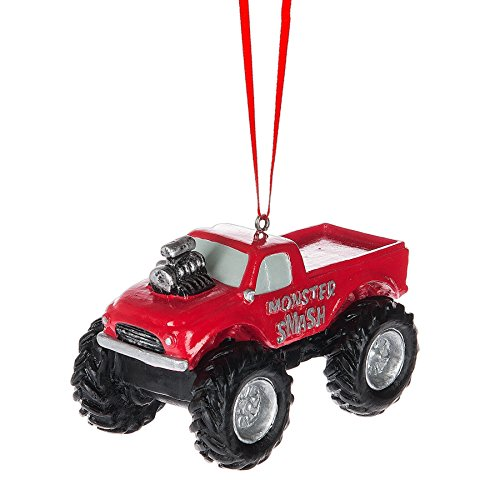 Midwest-CBK Red Monster Truck Ornament