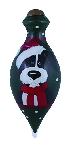 "Ne'Qwa Art, Christmas Gifts, ""Happy Howlidays To You"" Artist Kate Mawdsley, Petite Brilliant-Shaped Glass Ornament, #7151144"