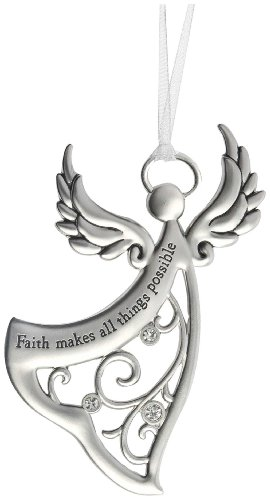 Ganz Angels By Your Side Ornament – Faith makes all things possible