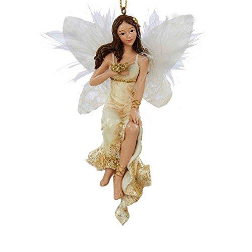 Christmas Ornament Ivory and Gold Angel C8742-A Kurt Adler