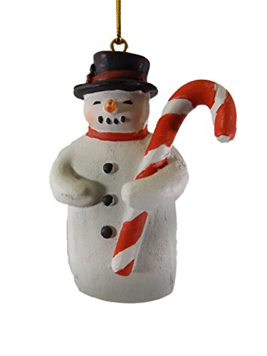 Snowman Christmas Tree Ornament With Candy Cane