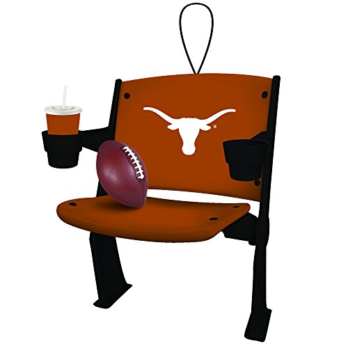 Texas Longhorns Official NCAA 4 inch x 3 inch Stadium Seat Ornament