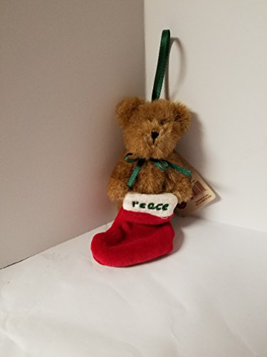 Bear in Stocking Plush Ornament (Peace)