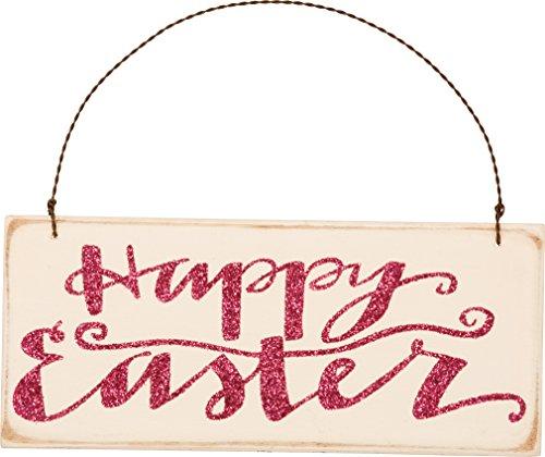 PBK Wood Ornament Sign – Prim Happy Easter #29750