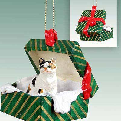 Calico Cat Gift Box Christmas Ornament Calico Shorthaired – DELIGHTFUL!