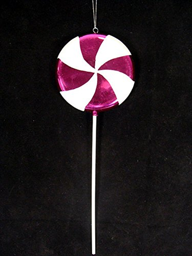 Vickerman Huge Candy Fantasy Raspberry Swirl Lollipop Christmas Decoration Ornament, 40″