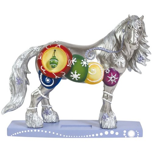 Westland Giftware Horse of a Different Color Figurine, 6.5-Inch, Silverfrost Clydesdale