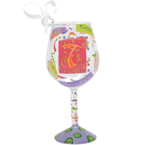 Santa Barbara Design Studio Lolita Holiday Mini-Wine Ornament, Letter T