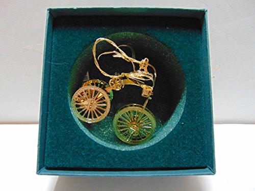 Baldwin TRICYCLE brass Christmas Ornament with 24K gold overlay
