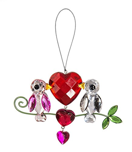 Ganz Crystal Expressions Valentine's Day 4″ Pretty Love Birds Ornament
