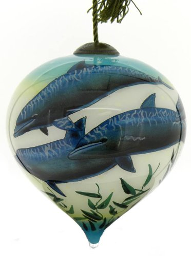 Ne'Qwa – Dolphins – Hand-Painted Ornament Decoration Gift MA-JW-552-NQ