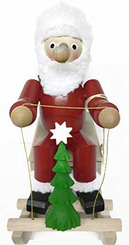 Steinbach Wind-up Musical Smoker Santa on Sleigh (Incense Burner)