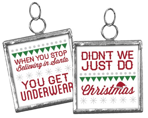 Primitives By Kathy Miniature Christmas Charm Ornament Underware 20161