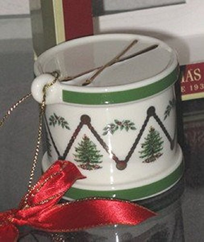 Spode Drum with Bow Christmas Holiday Tree Ornament