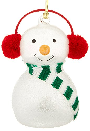 Lenox Wonder Ball Snowman Red Knit Muffs