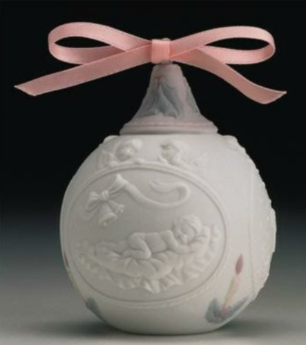 Lladro Baby's 1st Christmas Ornament Dated 1997