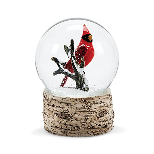 Abbott Collection 27-SHAKE/CARD Red Cardinal Snow Goblet