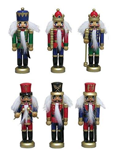 Santa's Workshop Assorted Nutcracker Ornaments, Set of 6, 5″