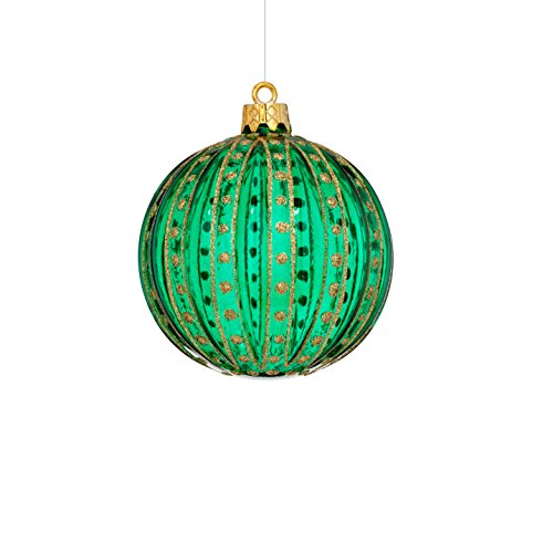 Sage & Co. XAO18821GR Shatterproof Ball Ornament (12 Pack)