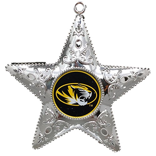 University of Missouri Mizzou Tigers NCAA Official 4.5″ Silver Star Ornament