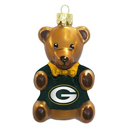 The Boelter Companies 136-GREBAY Teddy Bear Ornament – Green Bay Packers