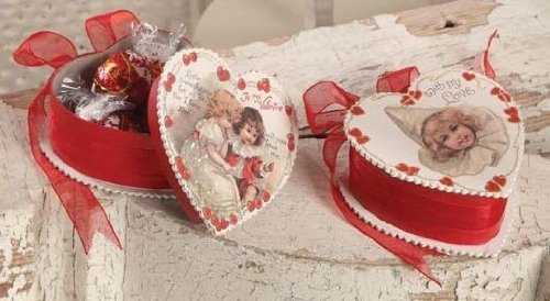 Bethany Lowe Valentine Heart Candy Box Set of 2 – LG1642