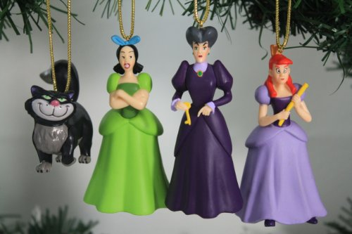 """Disney's Cinderella """"Wicked Step Mother & Sisters"""" Ornament Set – Limited Availability – (4) Ornaments Included"""