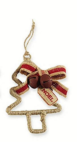 Mud Pie Rope Wrapped Ornaments – 3 Styles (Tree)