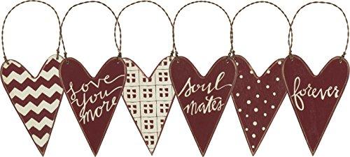 PBK Valentines Day Decor – Prim Heart Ornaments #26029