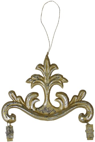 Metal Ornament Picture Holder (Gold-Silver, 6in)