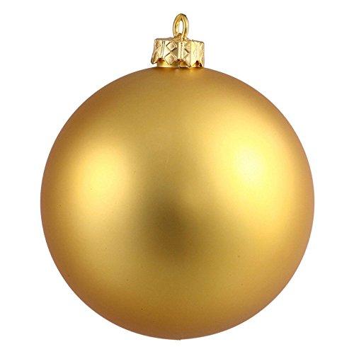 Vickerman 6″ Gold Matte Ball Ornament 4 per Box
