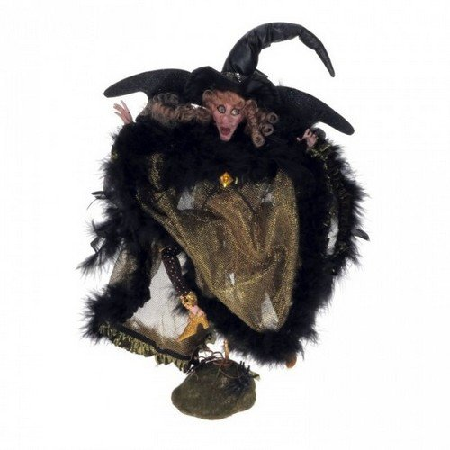 Eerie Golden Night Witch, Small – 12 Inch